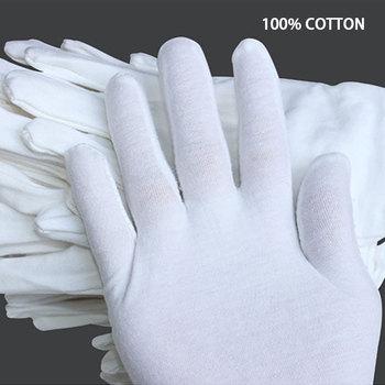 NMSafety białe bawełniane rękawiczki etykiety robocze rękawiczki dla mężczyzn i kobiet lub dzieci tanie i dobre opinie Biały przędzy CN (pochodzenie) Rękawice robocze B5018C 100 COTTON Jiangxi China (Mainland) All Kinds Of Industrial Hand Protection