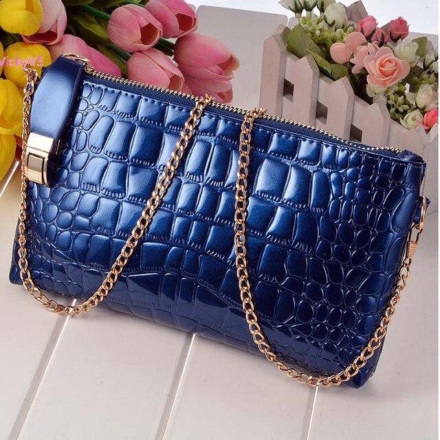 2015 chain PU Leather women Shoulder Bag Women Handbag candy color women messenger bags bolsa feminina 41