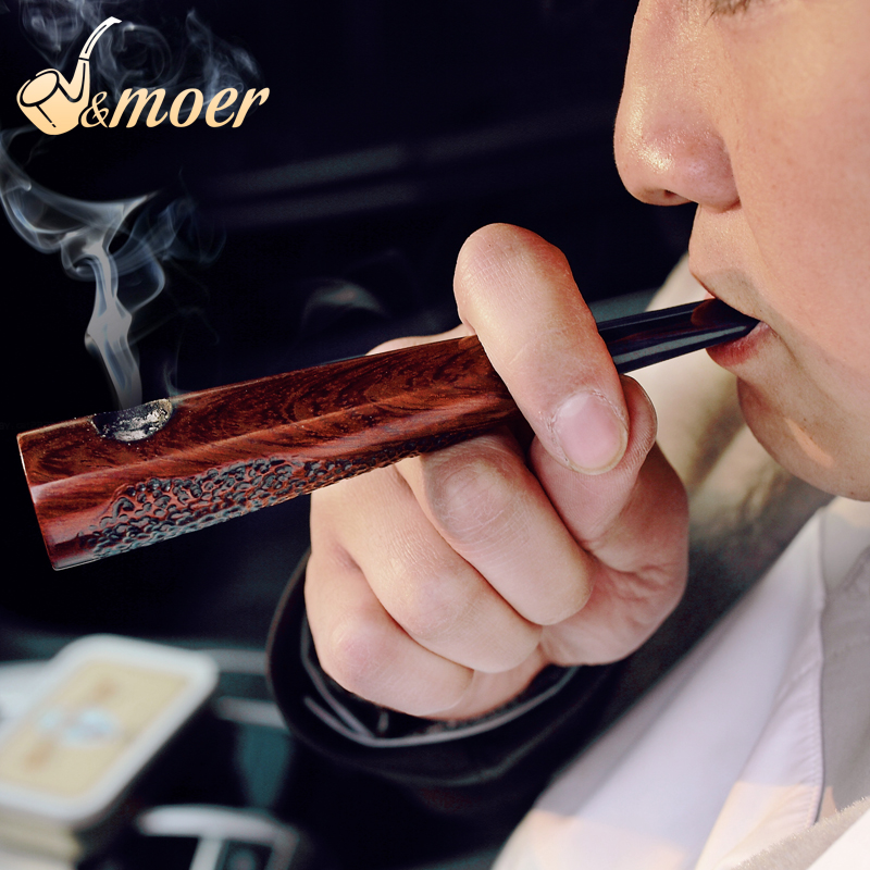 2019 NEW Gentlemens Cigar Pipe Ebont Wood Tobacco Pipe New Creative Gift  ADOUS Somking Pipe