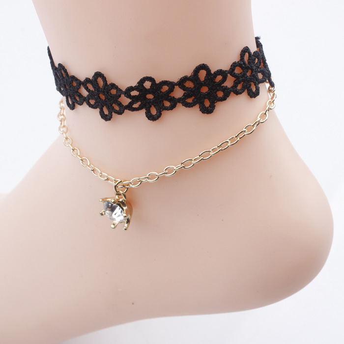 NEW handmade black vintage lace women s anklets DIY belt gift women accessories Gothic party