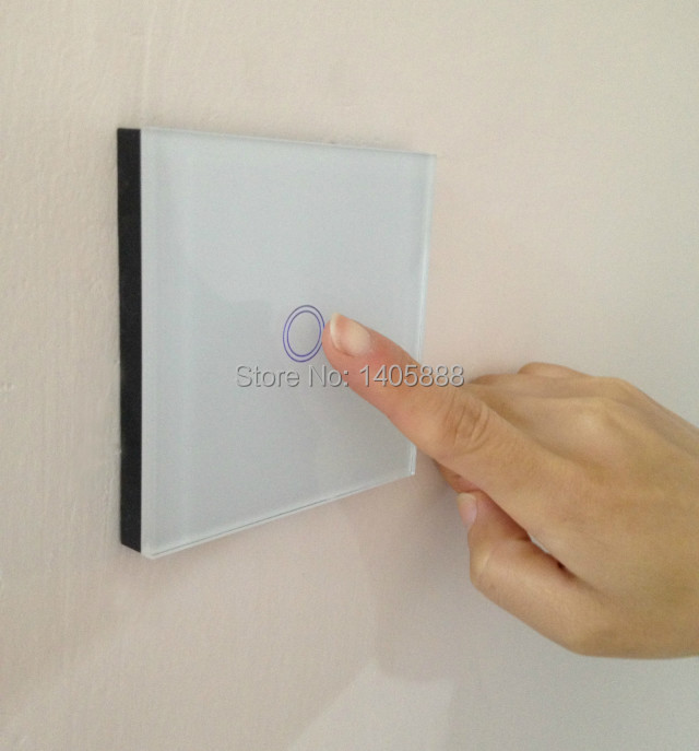 Christmas Wireless touch screen UK standard wall light Switch crystal Glass Panel for smart house home automation broadlink broadlink tc2 us au uk eu 3gang switch smart home automation phone remote wireless wall light touch switch crystal glass panel