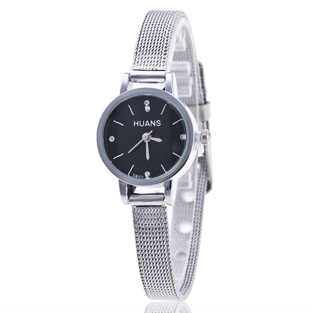 Women Watches Ladies Wristwatch Silver Stainless Steel Mesh Band Wrist Watch Relogio Feminino Clock Hours  high quality women s watch women ladies silver stainless steel mesh band wrist watch top gifts dropshipping m18