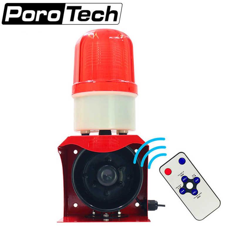 12V Indoor Wired Strobe Siren Warning Signal Horn Alarm System Flashing Light MW