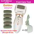 Golden waterproof charging AD pedicure electric tools Foot Care Exfoliating Foot Care Tool and 6Ps roller pedicure heads KIMISKY