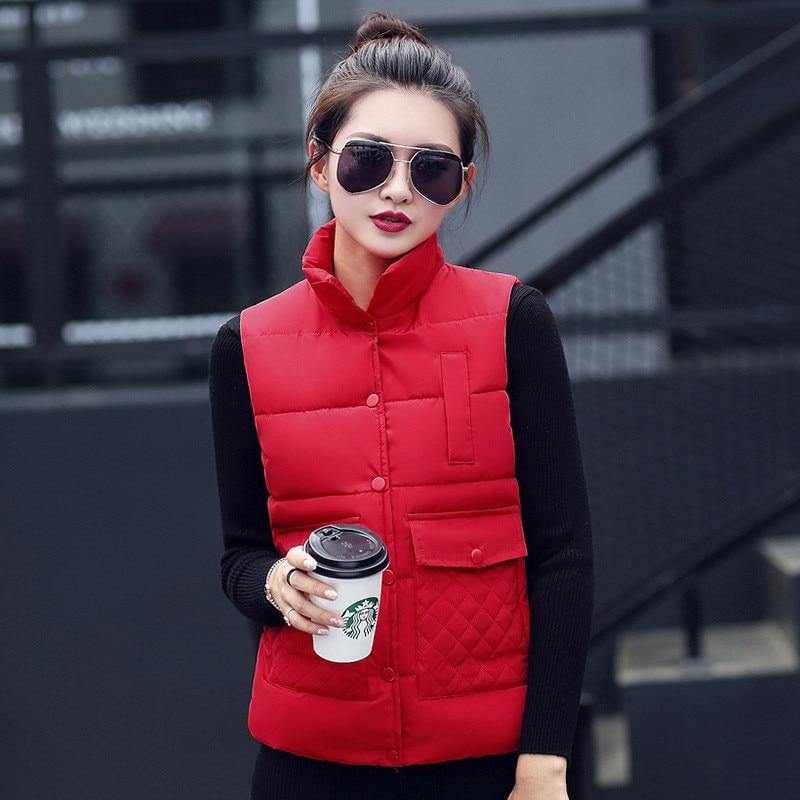 Nice New Style Single Breasted Colete Feminino De inverno,candy Color Button Colete feminino,autumn Winter Cotton vest,TT1428