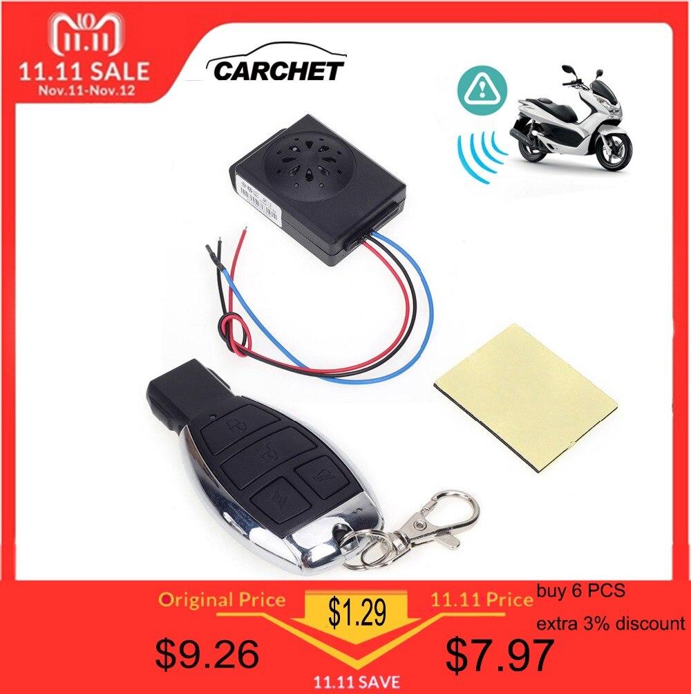 CARCHET אופנוע נגד גניבת אזעקת אבטחת מערכת עם שלט רחוק DC 12 v אופנוע אופני Moto קטנוע אזעקה מערכת