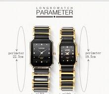 Luxury Brand Longbo waterproof business Fashion Quartz Ceramic Square watch Dress Casual Wristwatches Man Woman Lovers