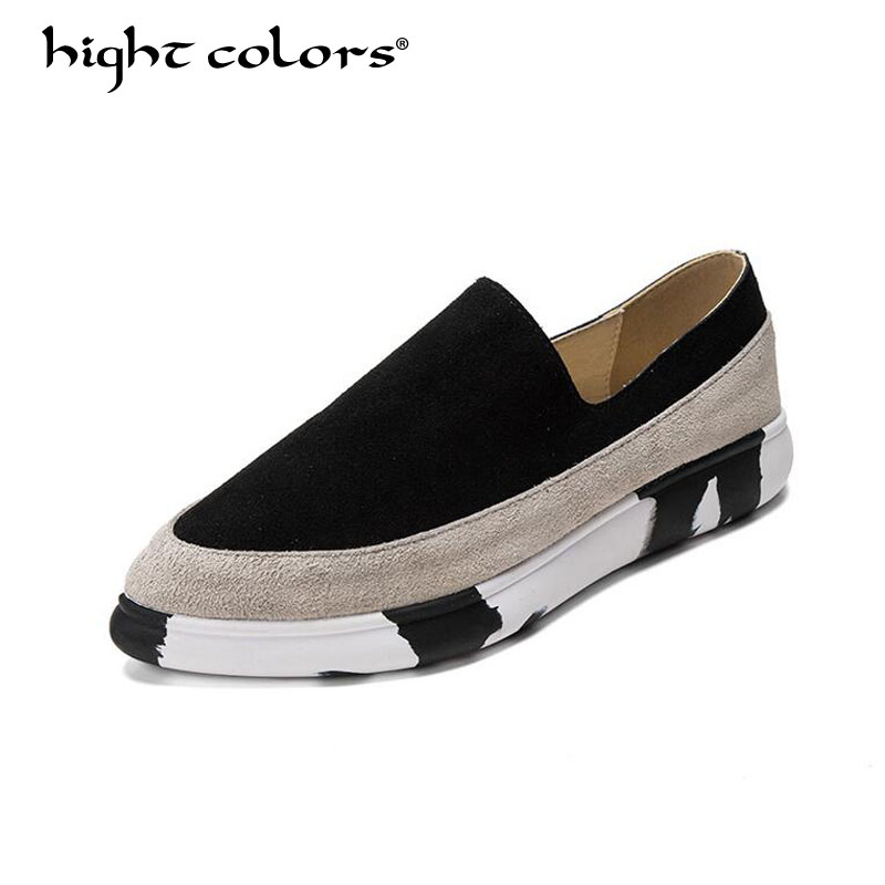 hight colors New 2019 women Flats Platform shoes BLACK RED Genuine Leather luxury brand Female Footwear