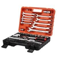 82pcs Universal Socket Torque Ratchet Wrench Set Car Professional Sheet Metal Tools Repair Tools Kit Impact