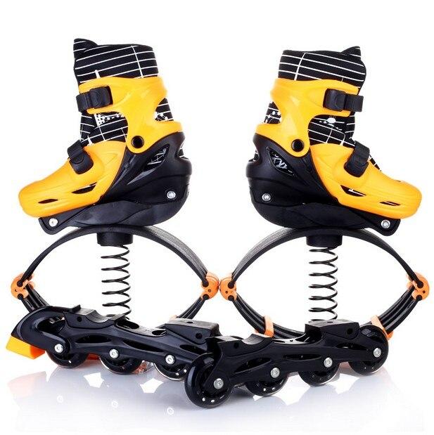 Haute qualité! 2 En 1 Skate Et Kangourou Saut Chaussures Fitness Exercice 30-70 kg Espace Rebondir Chaussures saut Et Skate