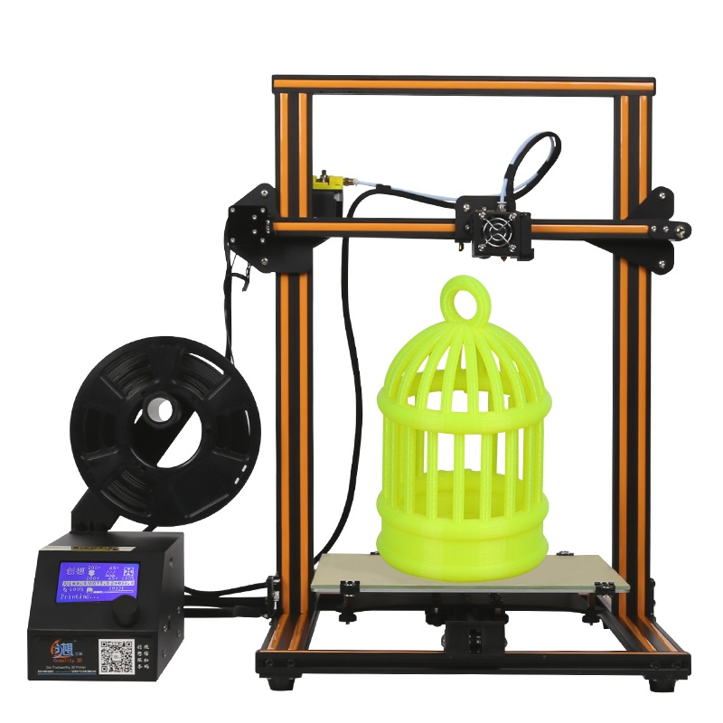 New Arrival CR-10 DIY 3D Printer Kit 300*300*400mm Printing Size 1.75mm 0.4mm Nozzle ABS PLA filament with heated bed new x5 desktop 3d printer big lcd display low decible diy 3d printers kit heated bed with 1 roll filament 8gb sd gifi