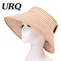 Spring Summer Hats For Women Foldable Wide Large Sun Hats For Woman Girls Striped Straw Hats
