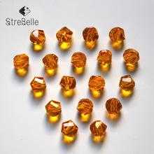 100pcs/Bag 24fa 6mm 8mm 10mm New Arrival Hot Loose Strand Faceted Glass Crystal Beads Spacer Bracelet Jewelry Making DIY