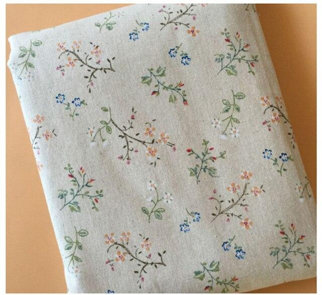 Offre spéciale tissu de mélange de lin et de coton | Tissu de couture imprimé fleurs de 100x150cm de largeur, décoration au mètre, tissu de lin pour bricolage