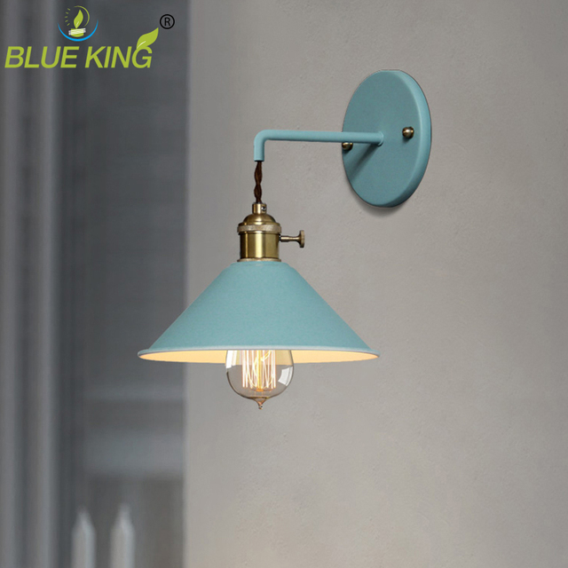 Colorful Macarons Iron Wall Lamps Creative Bedroom Wall Corridor Aisle Staircase Wall lamp Simple Living room Light