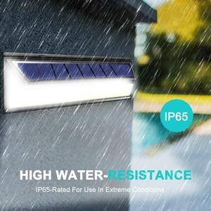 Image 5 - 180 luz LED de Energía Solar COB 3 modos Sensor de movimiento al aire libre lámpara Solar de pared impermeable ahorro de energía jardín patio luces de seguridad