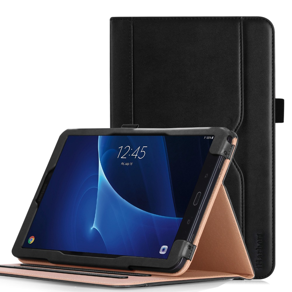 Stand Case Smart Cover for Samsung Galaxy Tab A 10.1 SM-T580/T585 (Not S Pen Version) PU leather Card Slot and Auto Wake/Sleep bf luxury painting pu leather case for samsung galaxy tab s 8 4 sm t700 t705 t705c flip stand cover case with card slot