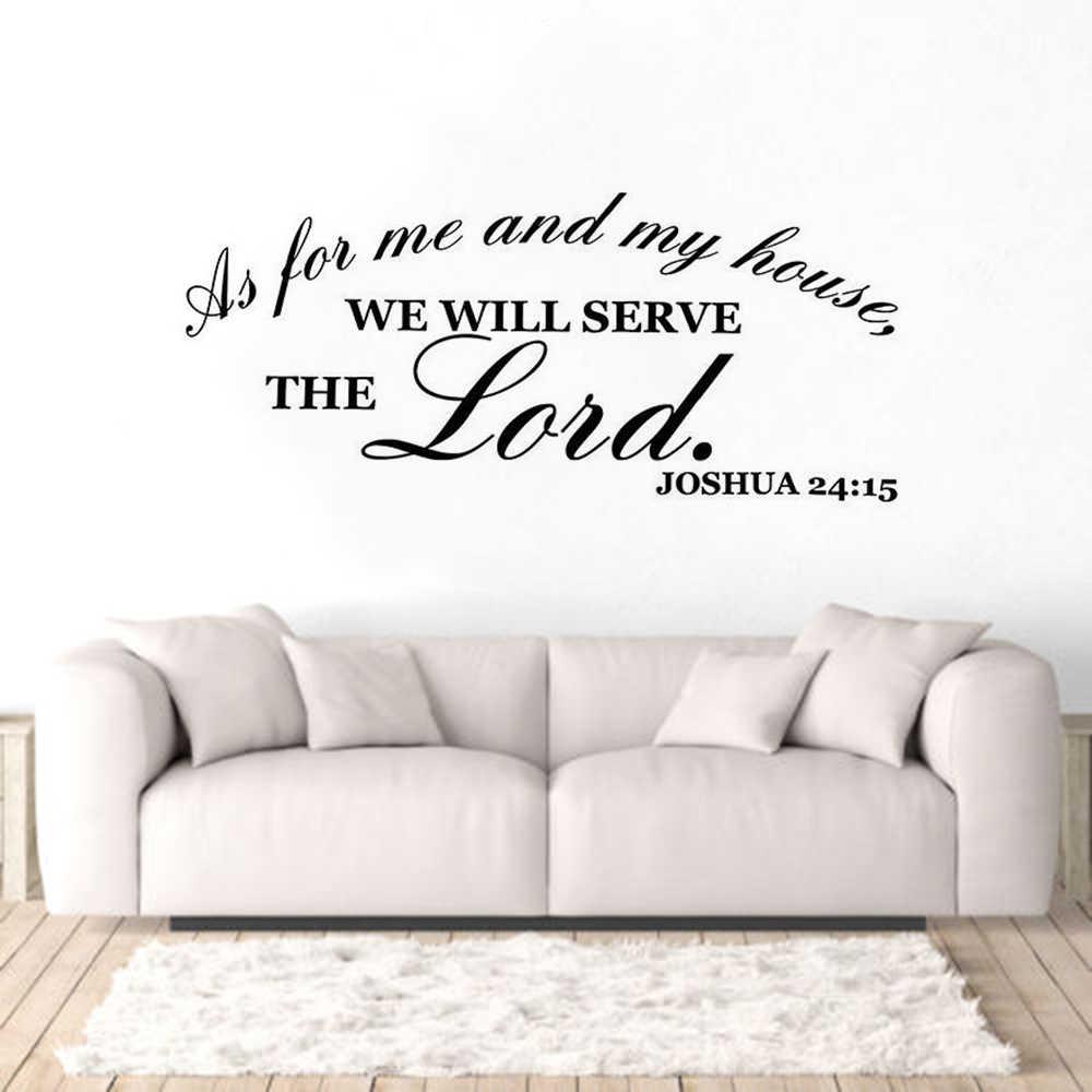 vinyl wall art stickers bible verse wall decals home living room