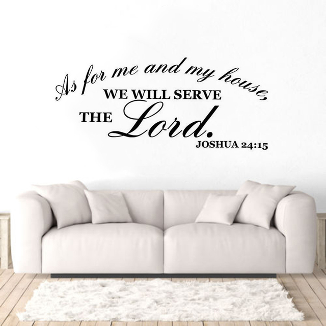 Vinyl Wall Art Stickers Bible Verse Wall Decals Home Living Room ...