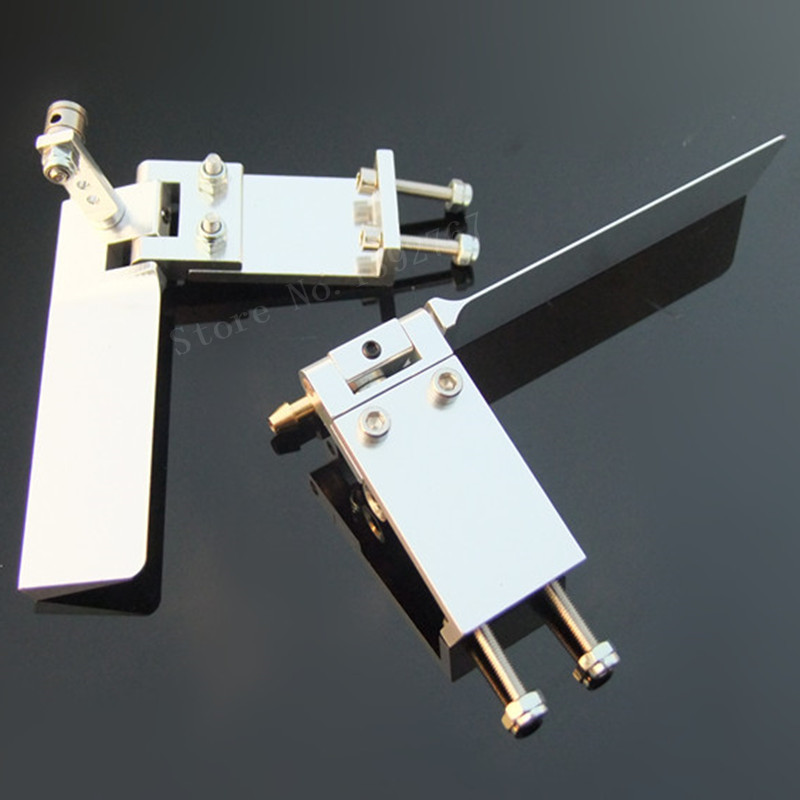 1 Piece RC Boat Aluminium Alloy Brand New Hot Sale 75mm 95mm Metal Suction Water Rudder For Remote Control RC Boats CNC Parts купить