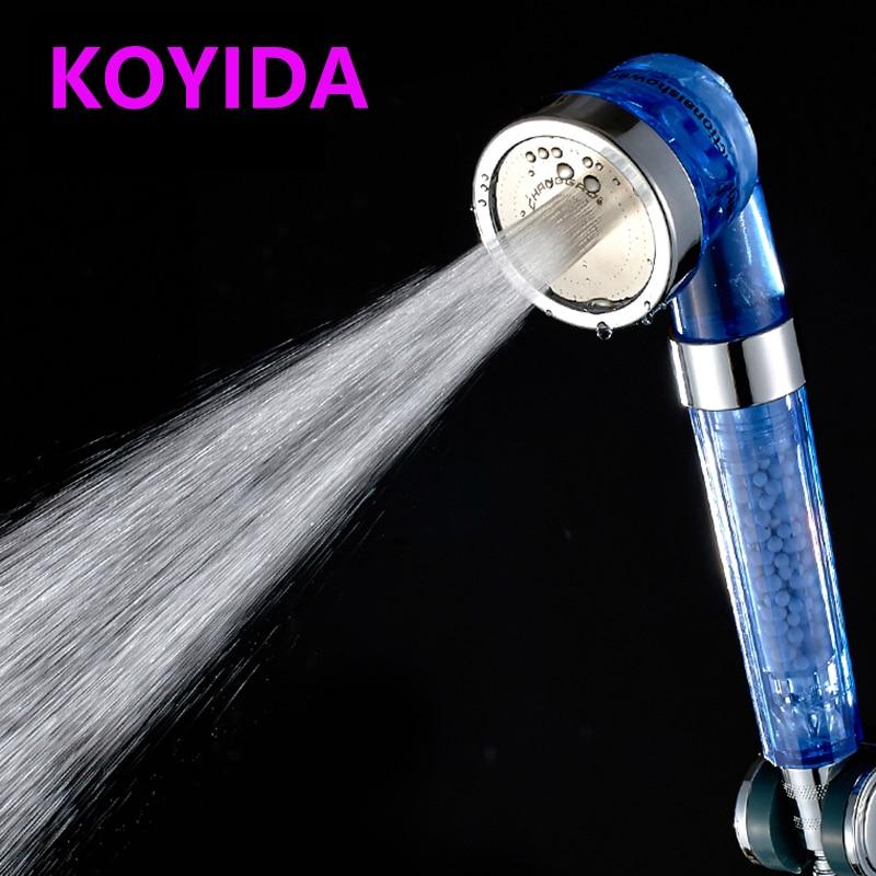 koyida shower head filter water saving shower heads handheld anion spa shower spray bathroom accessories chuveiro