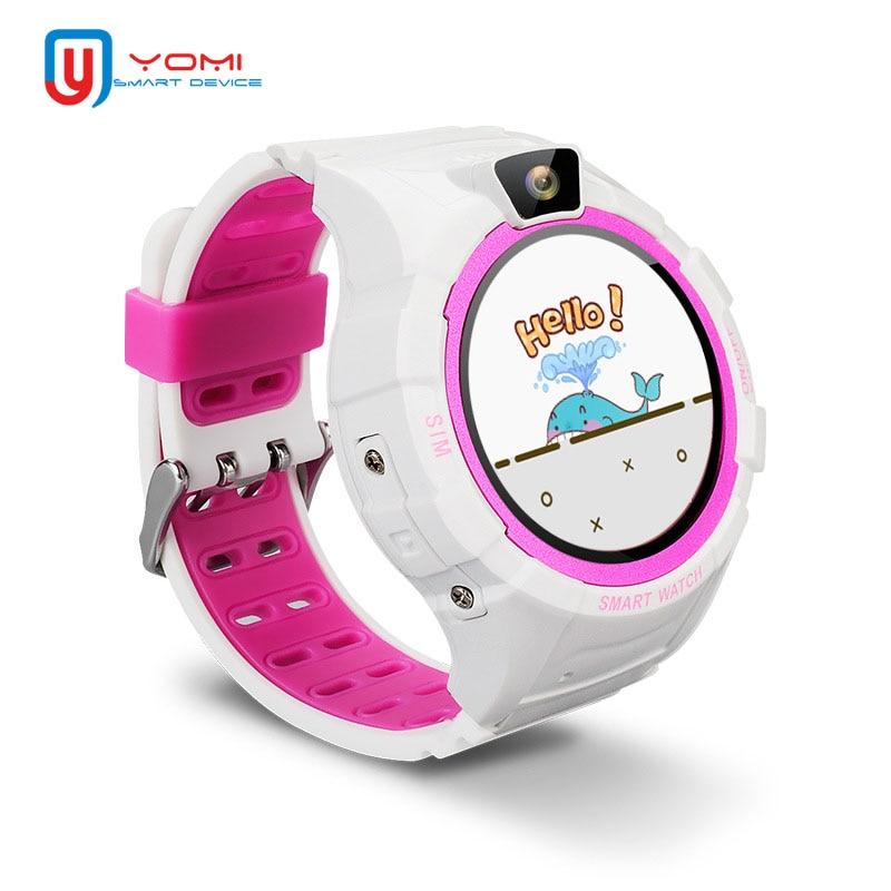 Smart Watch Kids Waterproof Round Screen GPS Tracker SOS Call Remote Control Camera Smartwatch Baby Finder Children Wristwatch|Smart Watches| |  - title=