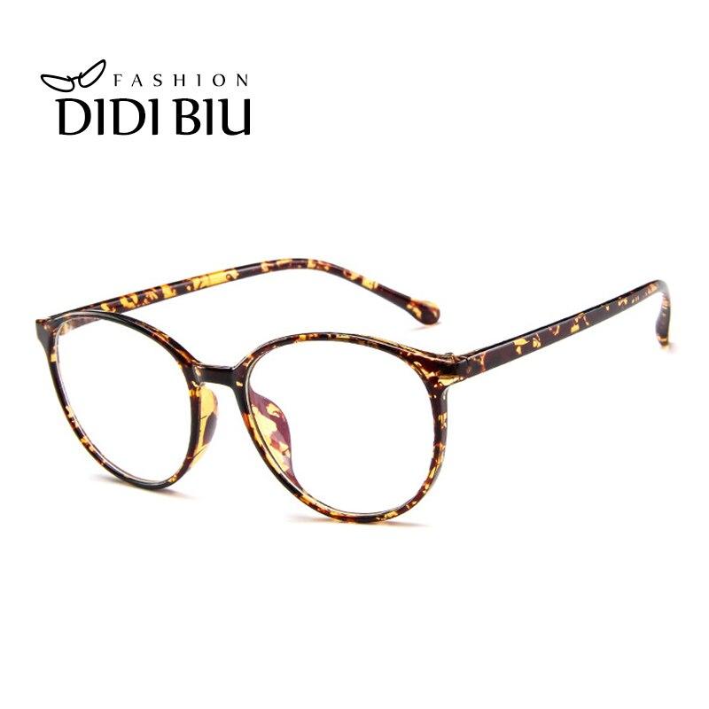 Didi Vintage Bulat Transparan Kacamata Bingkai Wanita Pria Ultra Ringan  Jelas Kacamata Optik Resep Kacamata Bingkai b12275499e