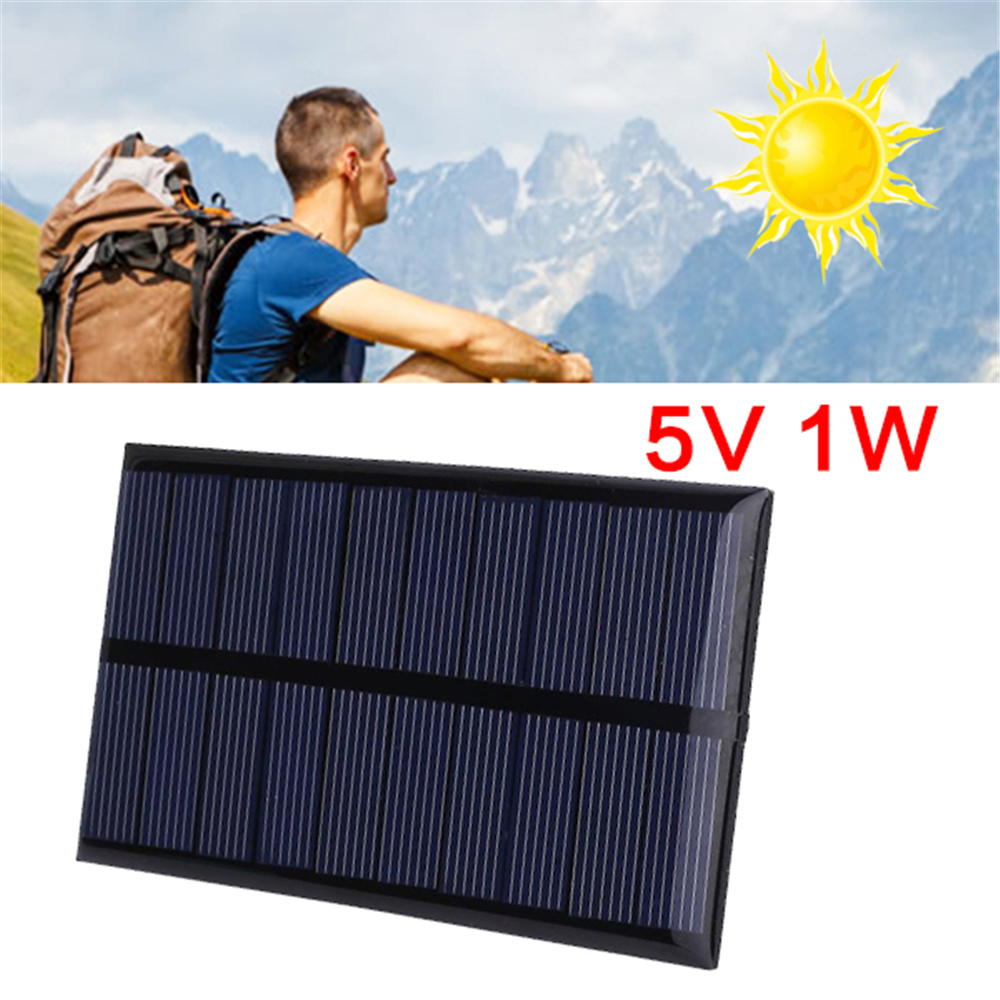 Cewaal 5V 1W Polysilicon Solar Panel Portable DIY Solar Power Cell Charger Module Outdoor Travel phone charger