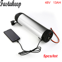 5 шт./лот 48 В 13AH ebike Батарея 48 В 750 Вт бутылка для воды Батарея для BAFANG BBSHD с USB порт и зарядное устройство