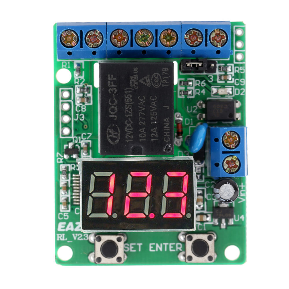 DC 12V Relay Module Voltage Detection Charging Discharge Monitor ...