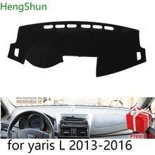 For Toyota yaris L 2013 2014 2015 2019 Car Styling Dash Mat Dashmat Dashboard Sticker Cover