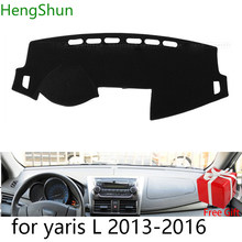For Toyota yaris L 2013 2014 2015-2019 Car Styling Dash Mat Dashmat Dashboard Sticker Cover Sun Shade Dash Board Cover Carpet(China)