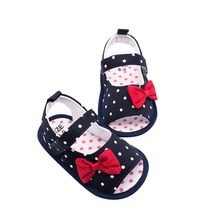 91403cb03220 Summer Baby Girls Sandals Baby Shoes Newborn Female Infant Wave Dot Canvas  Sandals Size 1-