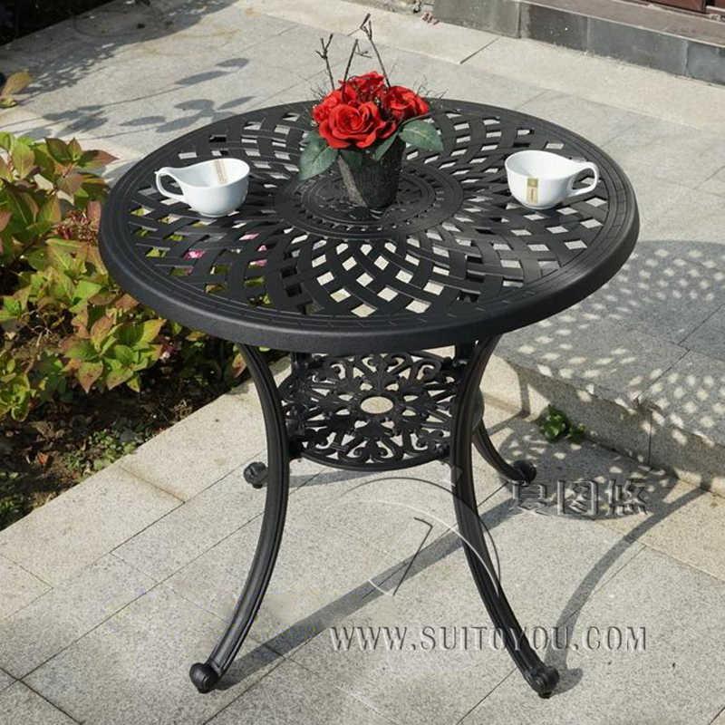 литой алюминиевый стол для садового стула уличная мебель