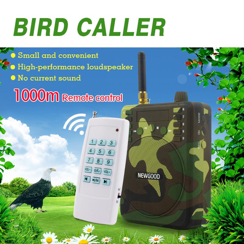 Prix pour 150Db 1000 M télécommande Chasse Haut-parleurs USB MP3 Oiseau Appelant Leurre de canard Animal Oiseau Sonore Attire Chasse TF USB Mp3 newgood