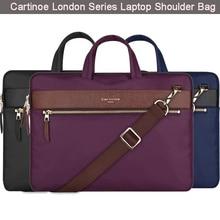 Cartinoe Pu Leather Laptop Bag w/ Shoulder Strap Handbag Messenger Unisex Briefcase for 11.6 12 13.3 inch Notebook Ultrabook