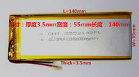 For Tablet Pc 3 7 Inch MP3 MP4 3555140 55mm 140mm 3 7V 3800mah Polymer Lithium