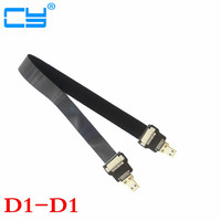 Micro HDMI Male to HDMI Male 90 Degree FPC Flat FPV HDMI Cable 10cm 20cm 30cm 50cm 100cm for Multicopter Aerial Photography