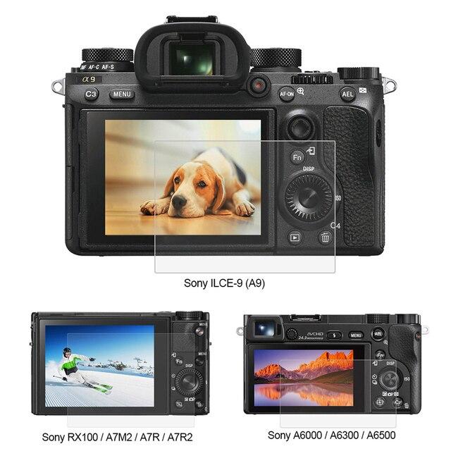 بولوز 1 قطعة 9H الزجاج المقسى LCD واقي للشاشة فيلم مناسبة لسوني ILCE 9 A9 A6000/A6500 RX100/A7M2/A7R/A7R2 كاميرا