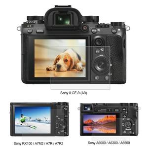 Image 1 - PULUZ 1pc 9H szkło hartowane ochrona ekranu LCD Film nadaje się do Sony ILCE 9 A9 A6000/A6500 RX100/A7M2/A7R/A7R2 kamera