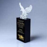 Высокое качество! DIY Новый Орел Древний стеклянный трофей бутик хрустальный трофей сувениры, бесплатная доставка