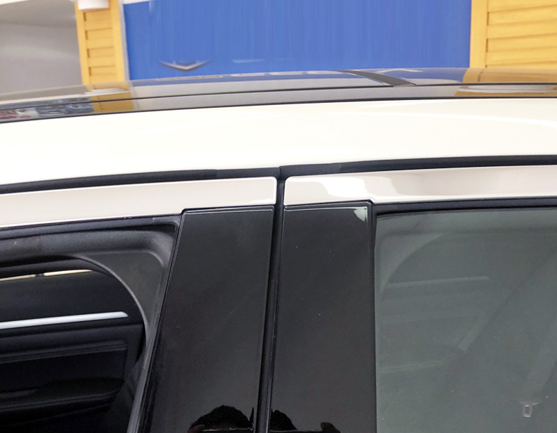 Fits Mazda CX-9 07-12 Chrome Mirror B-Pillar Door Pillar Covers Post Accessories