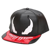 bd56ef88b4c Superhero Venom Black Panther PU Leather Hat Adjustable Baseball Hats  Outdoor Sunhat Hip Hop Caps Halloween