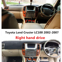 TAIJS Car Dashboard Cover For Toyota Land Cruiser LC 100 Right Hand Dust Proof Dashboard Mat