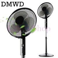 DMWD sacudir la cabeza del hogar ventilador eléctrico ventilador de pie estudiante mudo dormitorio cronometrado fan fans de tiempo de Escritorio adaptador de enchufe de EE.UU. de LA UE