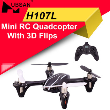 Upgraded Hubsan H107L X4 2.4GHz 4 CH 6-axis Gyro Portable Mini Drone RTF RC Quadcopter With 3D Flips Built-in LED