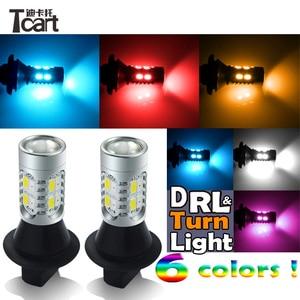 Image 5 - Tcart P21W drl turnlight Per KIA Sportage K5 k2 K3 K3S Forte Anima Optima RIO LED DRL e Indicatori di direzione Anteriori segnali di luce tutto in uno
