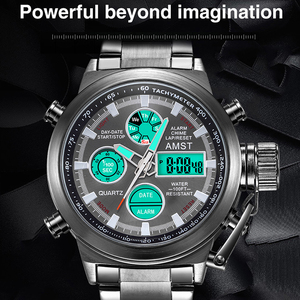 Image 2 - AMST Famous Luxury Brand Mens Watches Digital LED Military Watch Men Fashion Casual sports Electronics Man Wrist watches Relojes