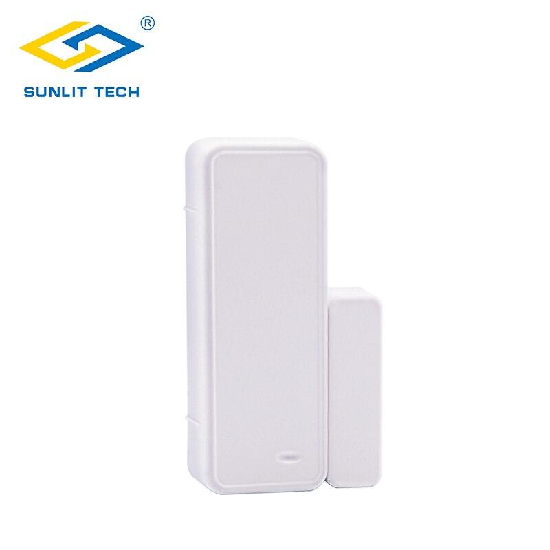 433 mhz two-way sensor magnético sem fio da janela da porta sistema de alarme para a segurança em casa wifi detector de interruptor aberto para g90b mais
