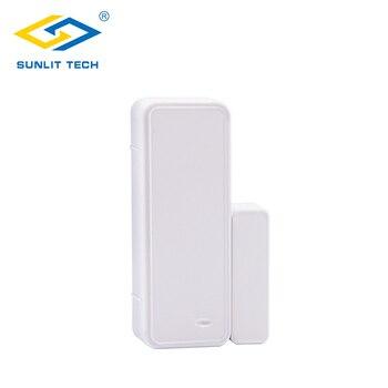 цена на 433MHz Two-way Magnetic Sensor Wireless Door Window Alarm System For Home Security Wifi Door Open Switch Detector for G90B Plus